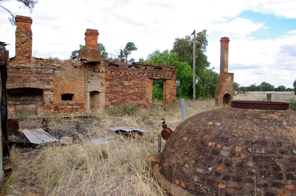 Once a substantial home. Underground water tank in the foreground: Narrandera