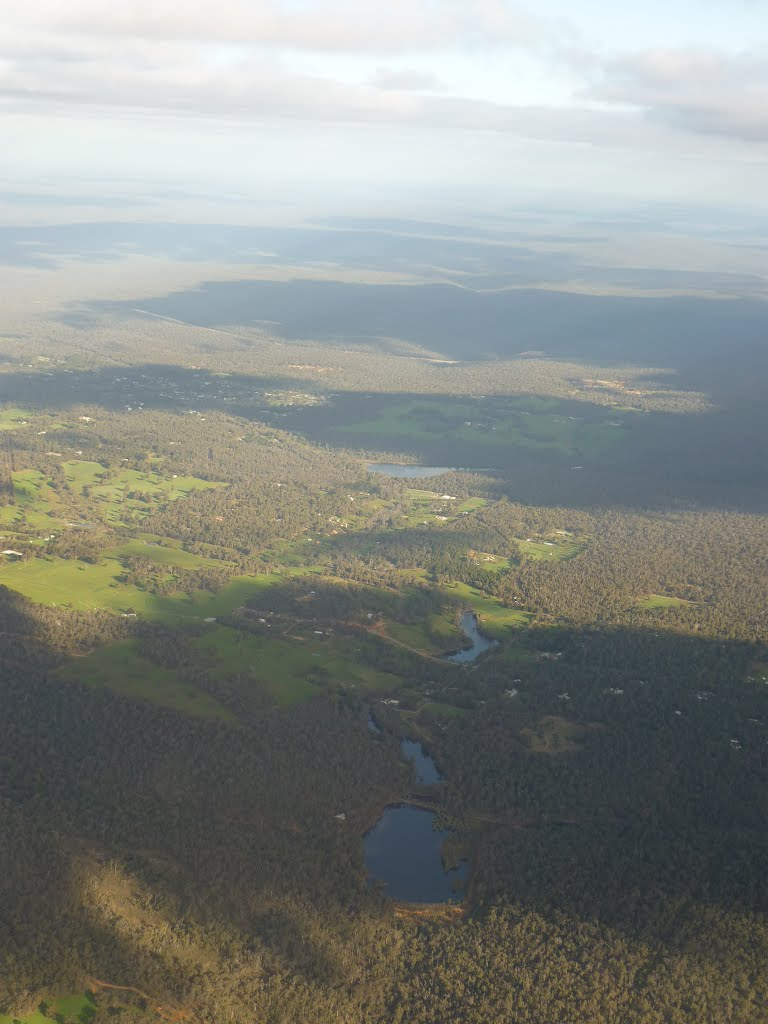 Above Gidgegannup With Lake Leschenaultia In Background