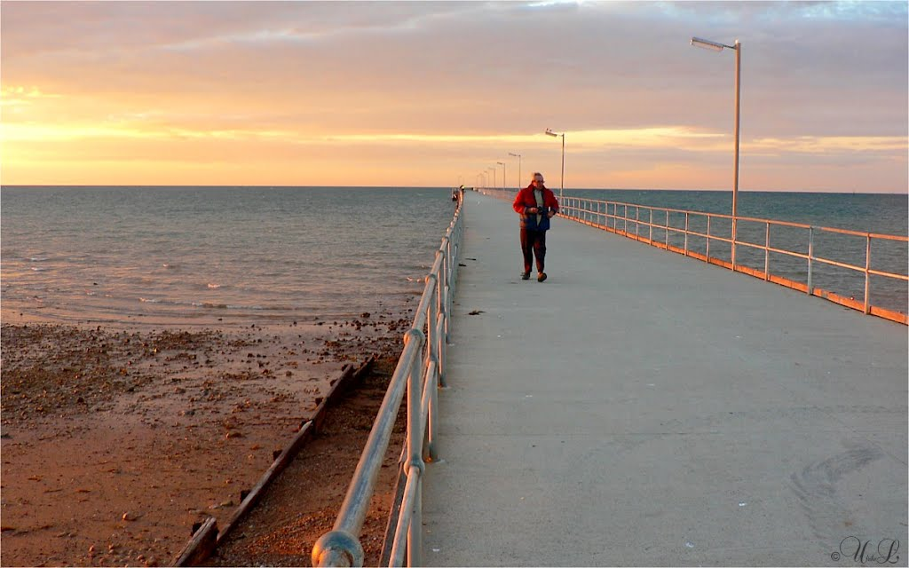 frosty sunrise on Adrossan Jetty, South Australia