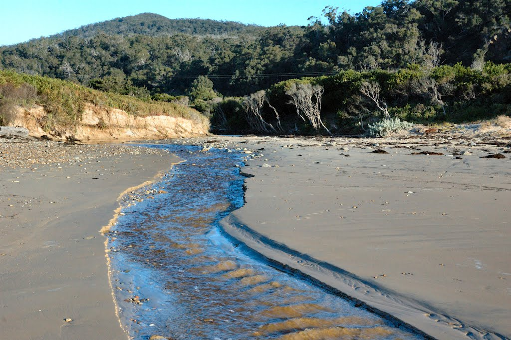 Creek outflow into Badger Beach