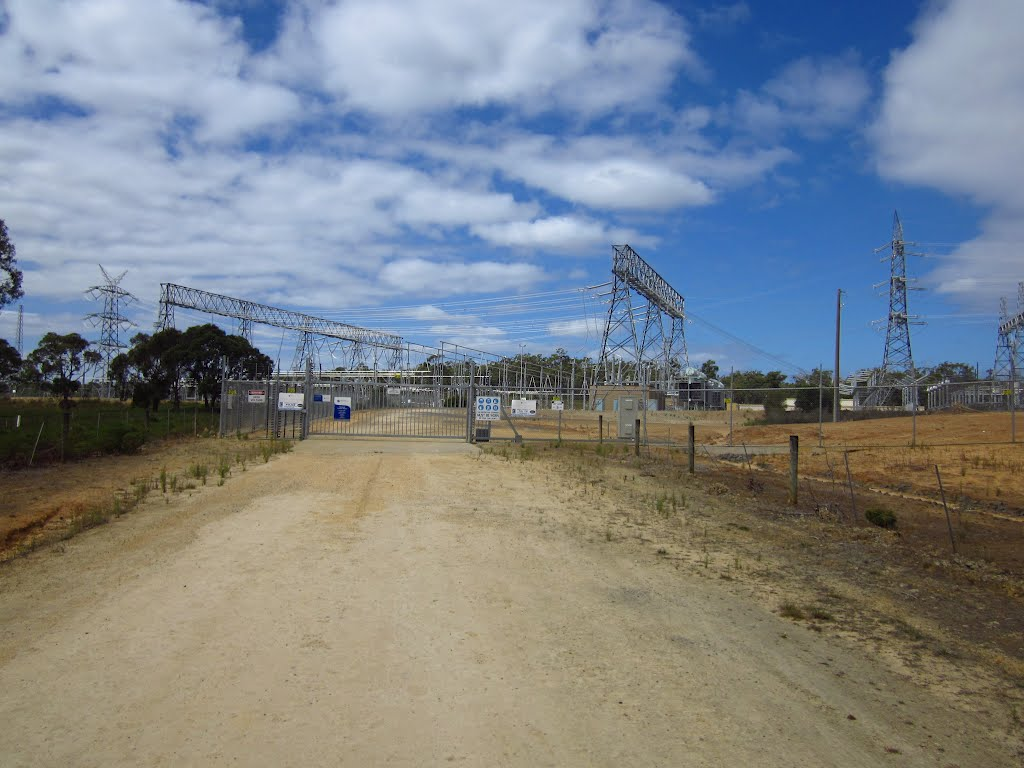 Electricity sub-station near Heywood, Vic