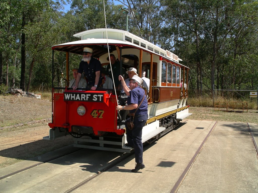 Restored tram at Tramway Museum.  Ferny Grove.Brisbane