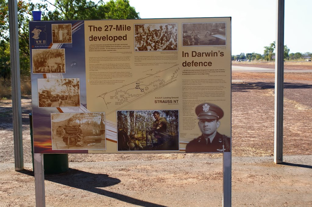 WW2 Landing Strip Strauss, one of numerous strips alongside Darwin-Katherine Highway
