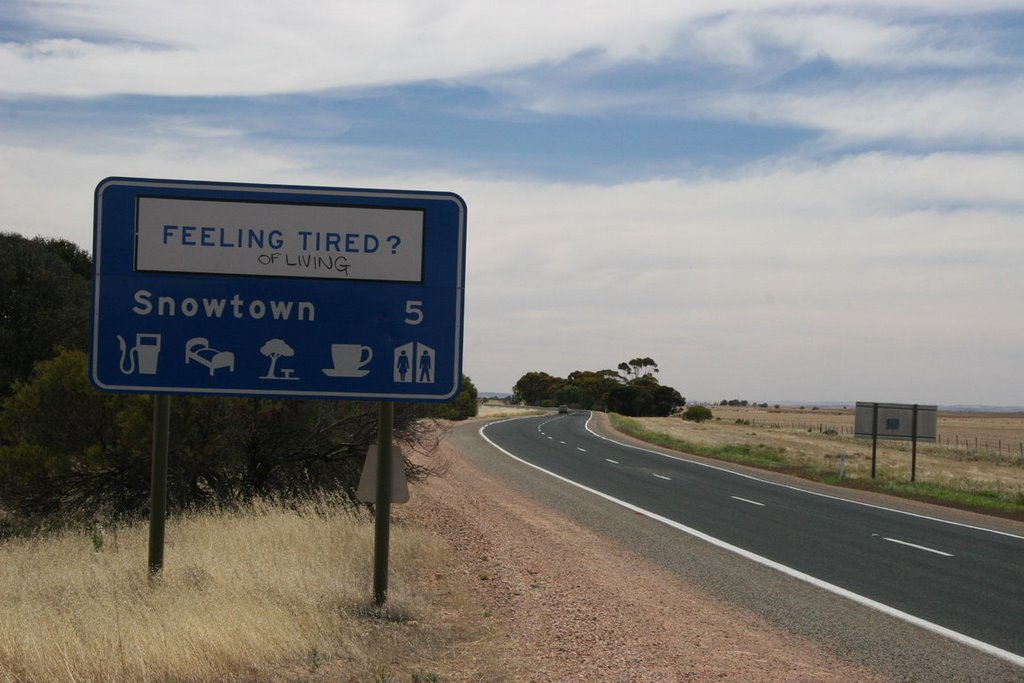 Snowtown Sign