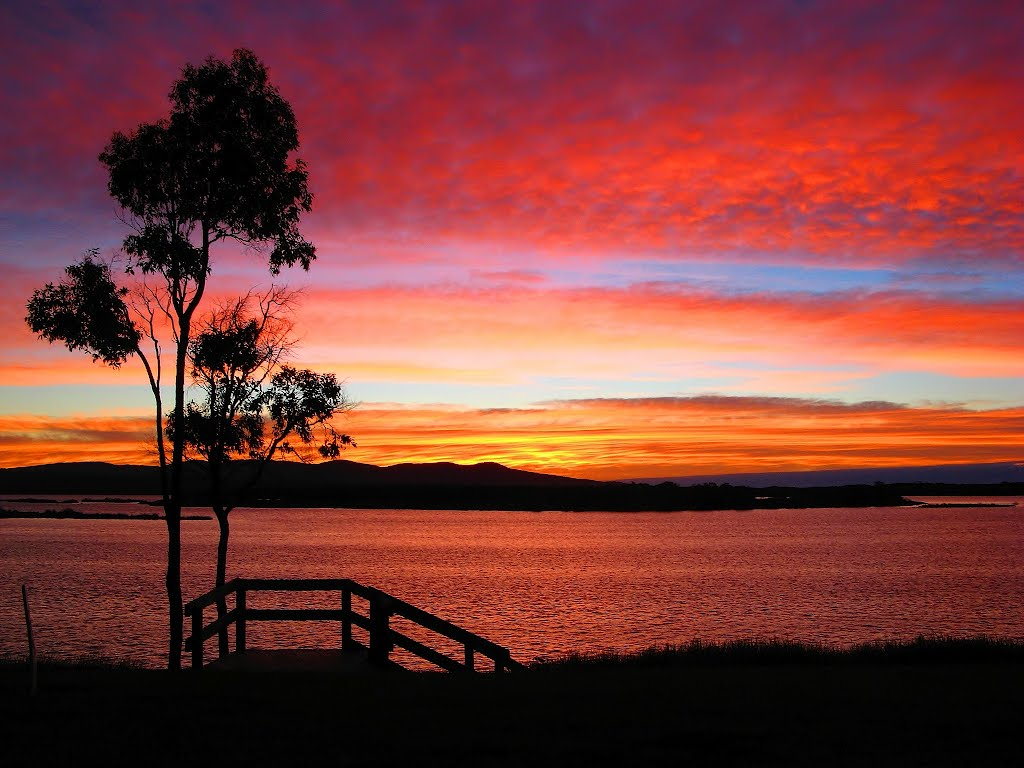 painted sky before the sun rises, foreshore Mallacoota