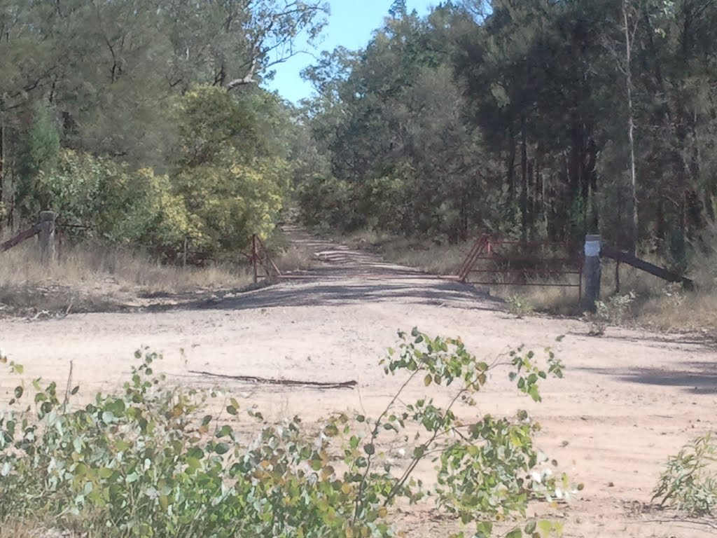 Horse Creek Road entrance to Combabula State Forest track