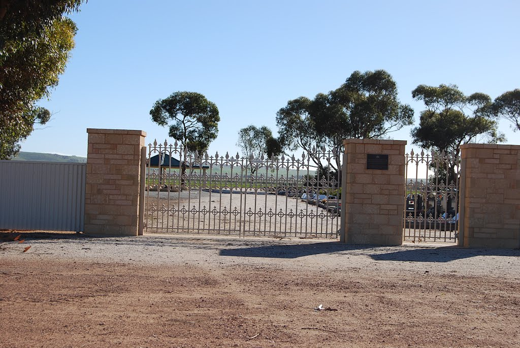 New entrance gate to cemetery