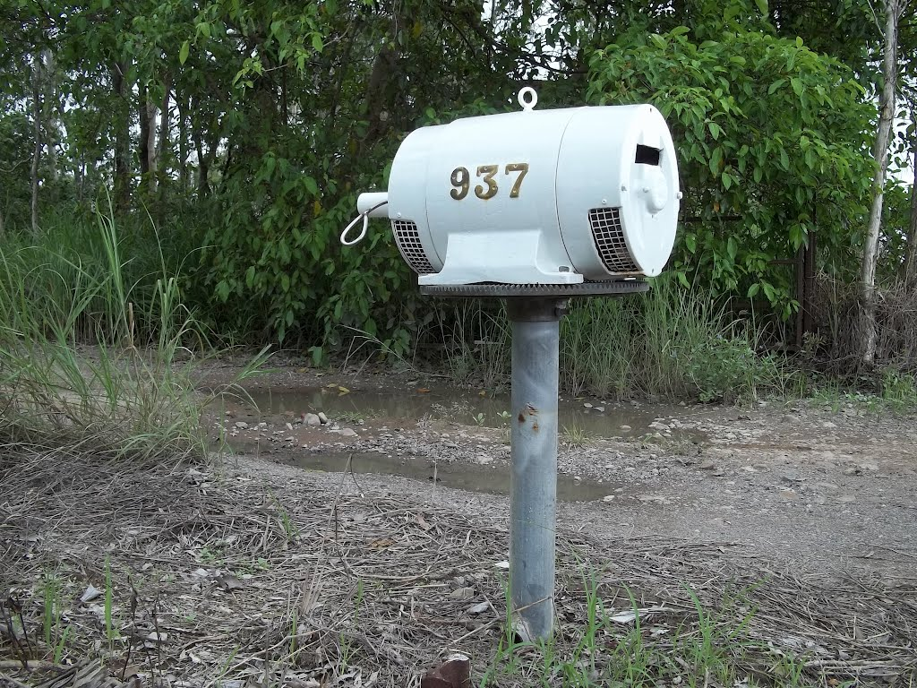 Letterbox on Black River Road, Black River, Queensland, Australia