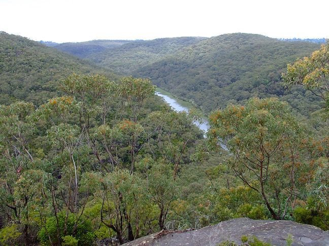 hills around Woodford Dam