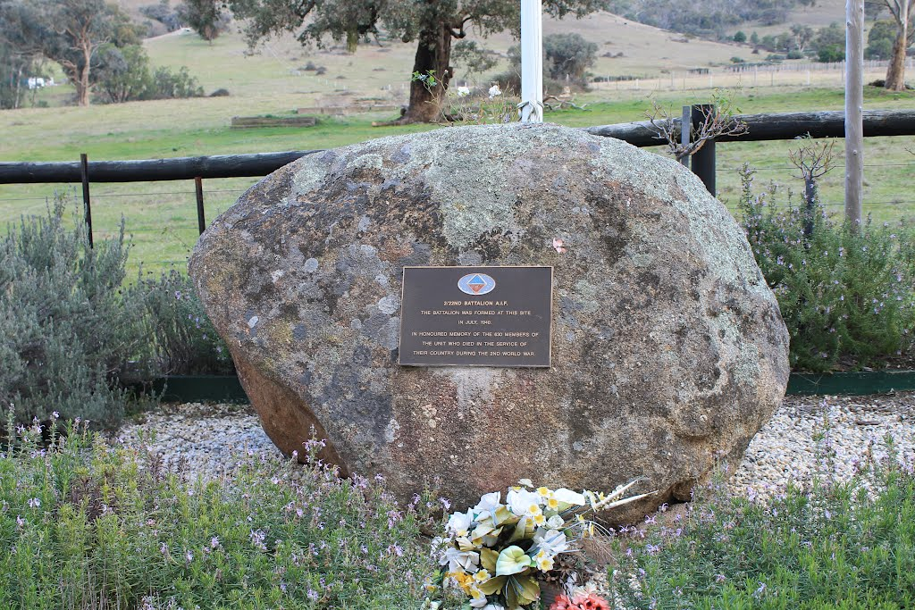 Memorial for 2/22nd Battalion  AIF near Trawool