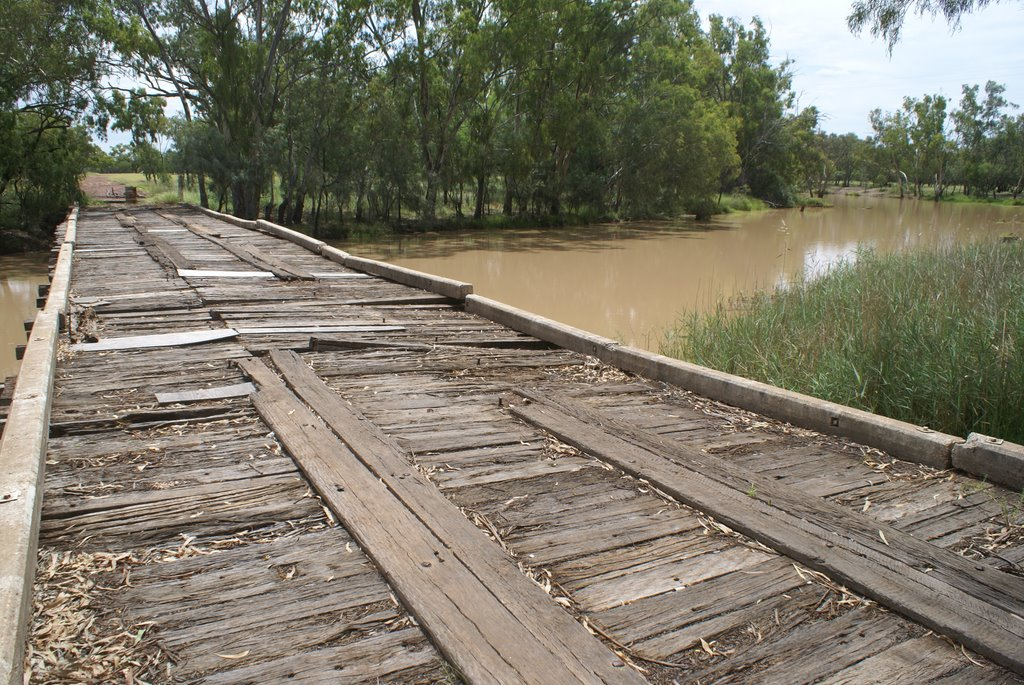 Old Bridge over the Moonie River, Nindigully