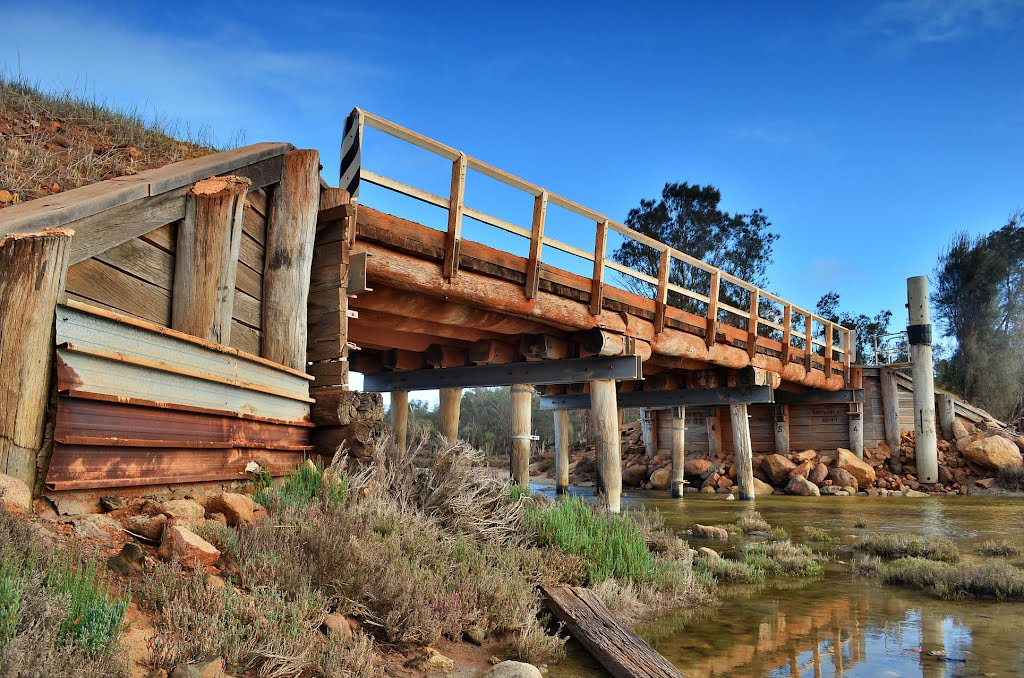 Classic old timber bridge near Dumbleyung