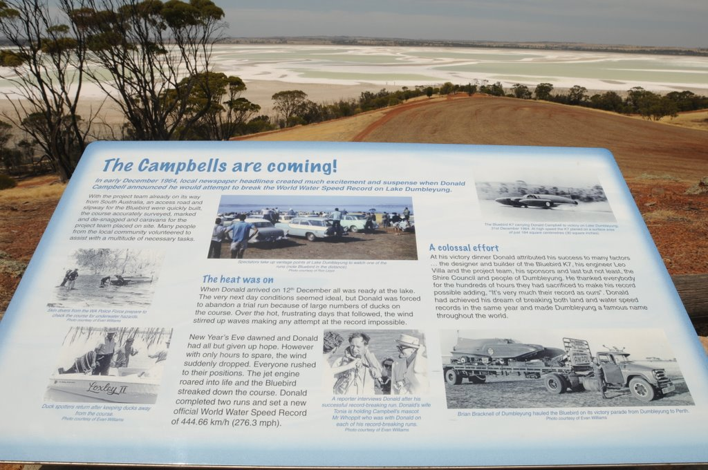 The Campbells are coming! Lake Dumbleyung 1964