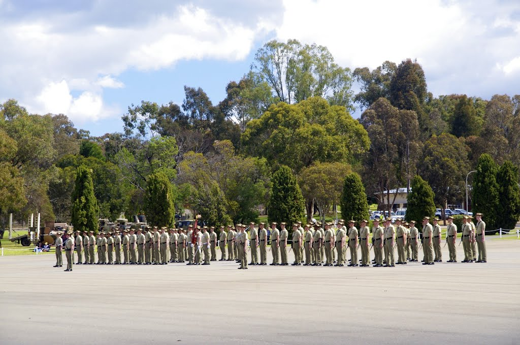 Kapooka Army Recruits March Out Parade