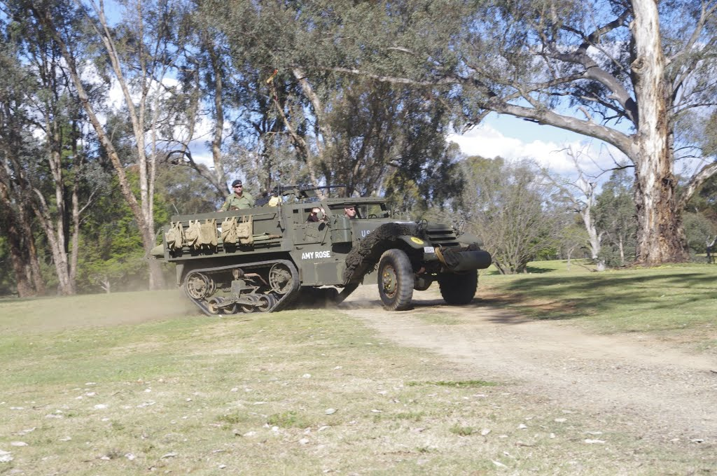 Lookout, lookout, Germans about!  M3 Half Track