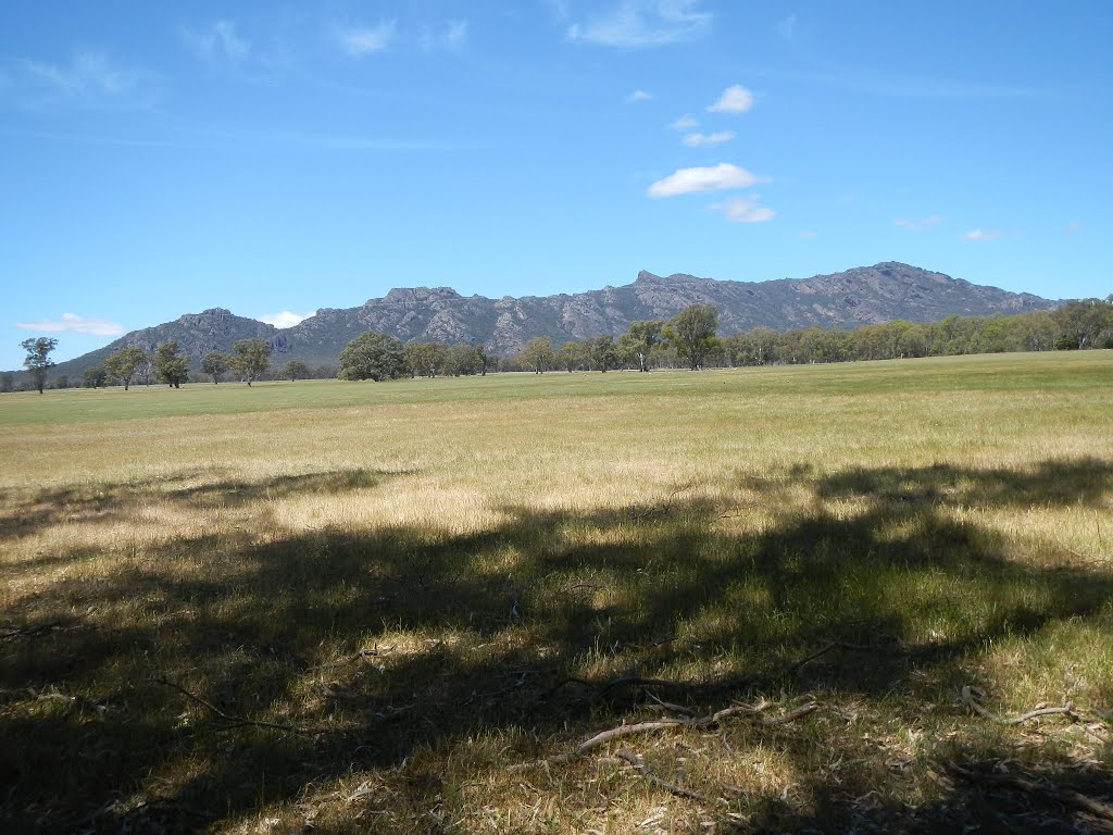 grampians from the henty highway