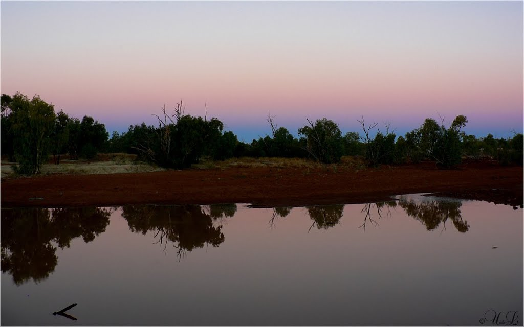 Sunset on the Burk River, Boulia, Queensland