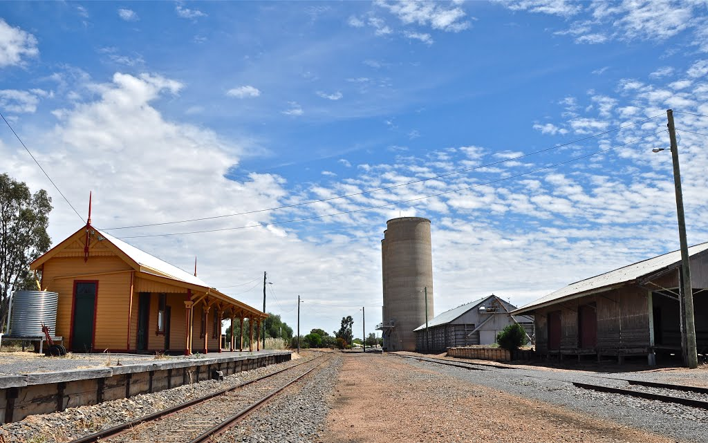 Old Wycheproof station and silos