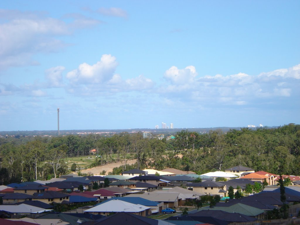 View from Upper Coomera (Tower of Terror, Runaway Bay Highrise & Surfers Paradise Highrise