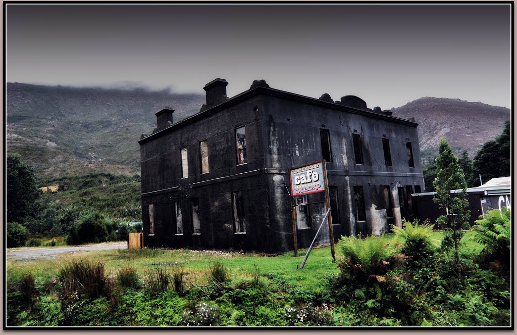 Ghost town....Old Royal Hotel - Linda Valley Cafe....West Coast of Tasmania