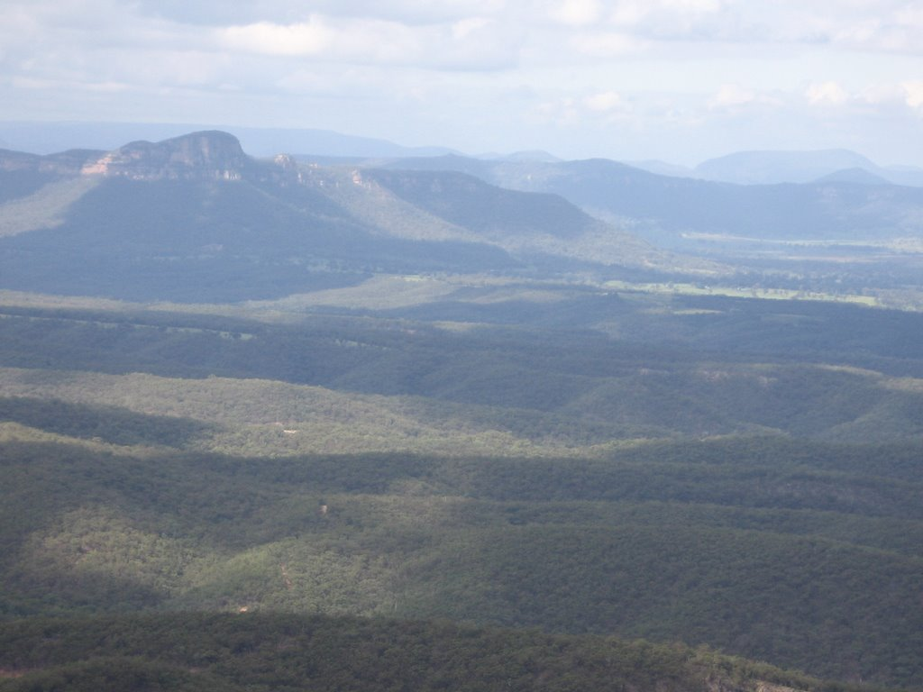 View over Northern Capertee Valley from Mt Vincent