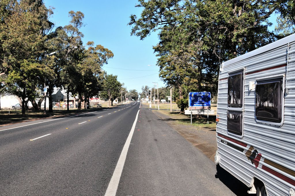 The Newell Highway in Gilgandra, NSW