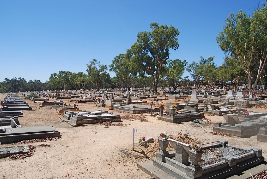 Narrogin Cemetery from southwest