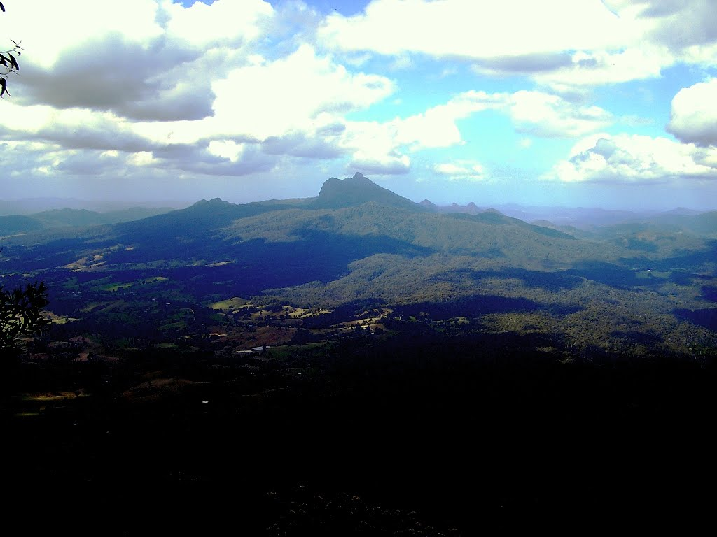 Mt Warning, the first place in Australia to see the sun